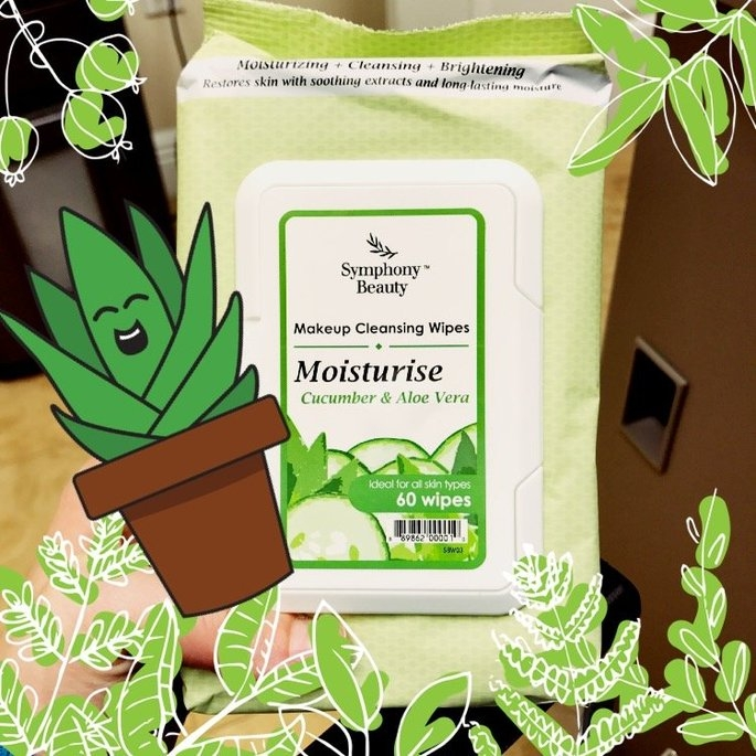 Symphony Beauty Makeup Cleansing Wipes 60 Wipes (Moisturise-Cucumber & Aloe Vera) uploaded by Jamie S.