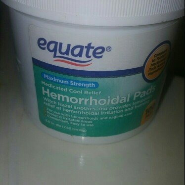 Equate - Hygienic Cleansing Pads, Hemorrhoidal Vaginal Medicated Pads, 100 Pads uploaded by Anita S.