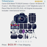 Canon EOS 70D Digital SLR Camera Body with EF 24-70mm f/4L IS Lens + 64GB Card + Battery + Case + 3 Filters + Flash + Tripod + Accessory Kit uploaded by Shenell A.