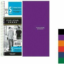 Mead Products Five Star 5 Subject Notebook, Wide Ruled, 200 Sheets uploaded by sherry M.