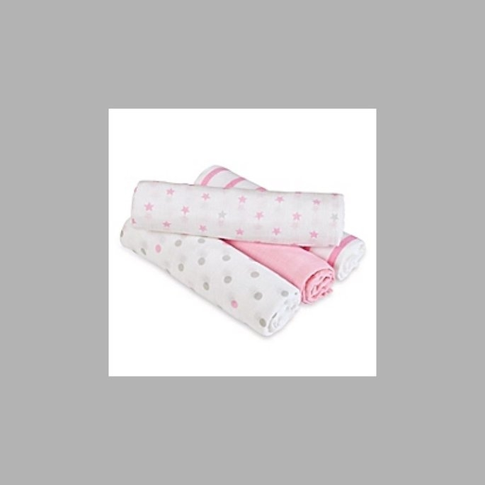 SwaddleDesigns 4pk Muslin Swaddle Blankets - Butterflies and Posies - uploaded by Ally H.
