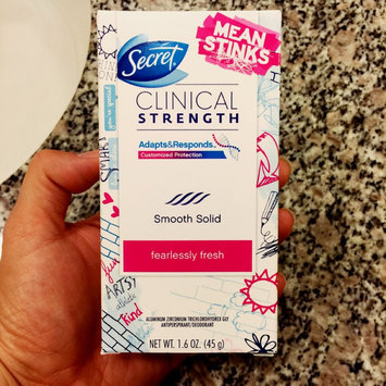 Secret® Clinical Strength Smooth Solid Women's Antiperspirant & Deodorant Fearlessly Fresh Scent uploaded by Esther K.