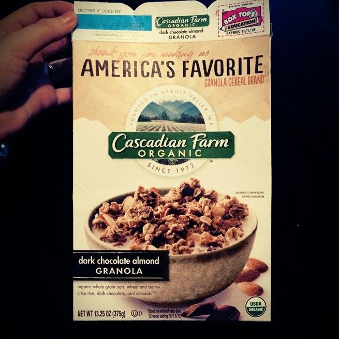 Cascadian Farm Organic Dark Chocolate Almond Granola uploaded by Regan G.