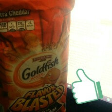 Pepperidge Farm Goldfish: Flavor Blasted Xtra Cheddar Baked Snack Crackers uploaded by Gabriela A.