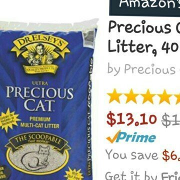 Precious Cat Ultra Multicat Scoopable Litter uploaded by Julie G.