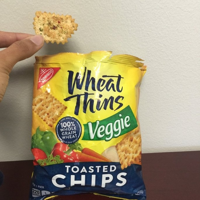 Nabisco Toasted Chips Toasted Veggie Wheat Thins 1.75 Oz Bag uploaded by Iqra M.