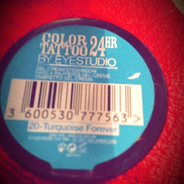 Maybelline Color Tattoo 24Hr Gel-Cream Eyeshadow 20 Turquoise Forever uploaded by Layla A.