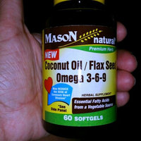 Mason Natural Coconut Oil / Flax Seed Omega 3-6-9, Softgels uploaded by Leslie R.