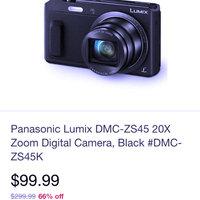 Panasonic - Lumix Dmc-zs45 16.1-megapixel Digital Camera - Black uploaded by Monica S.
