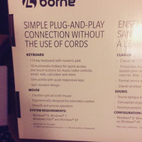 Borne Wireless Multimedia Keyboard and Mouse Combo - Black uploaded by Stacey B.