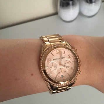 Photo of Michael Kors Rose Golden Stainless Steel and Tortoise Acetate Watch uploaded by Amanda D.