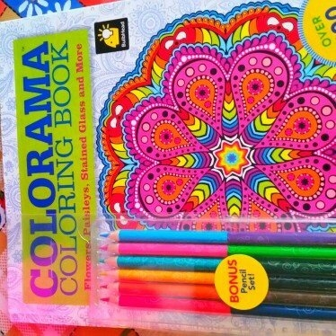 Colorama Coloring Book: Flowers, Paisleys, Stained Glass and More uploaded by Amanda H.
