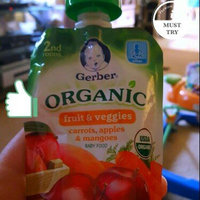 Gerber® Organic 2nd Foods® Fruit & Veggies Carrots, Apples & Mangoes Baby Food 6-3.5 oz. Pouches uploaded by Barbara M.