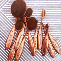 110OVBRSH10 Pro Balance Soft Hair Oval Makeup Brush Sets 20 Pcs uploaded by Rochelle D.