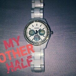 Fossil® Women's Poptastic Watch In White With Silicone Strap uploaded by Ivana S.