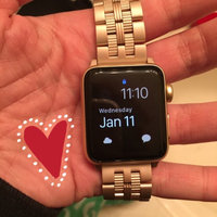 Platinum - Stainless Steel Watch Strap For Apple Watch ® - Gold uploaded by Rachael L.