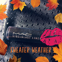 MAC 'Liquidlast' Liner - Point Black uploaded by Lupita G.