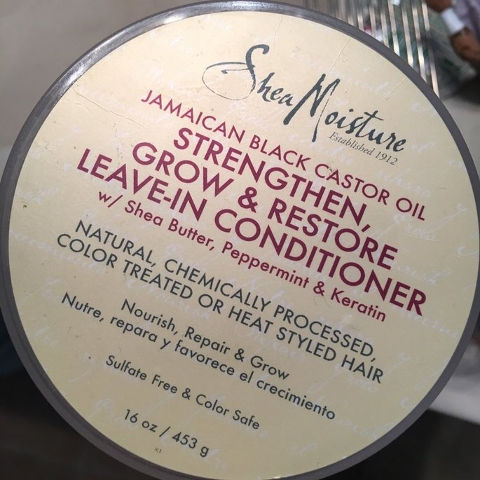 SheaMoisture Strengthen, Grow & Restore Leave-In Conditioner, Jamaican Black Castor Oil, 16 oz uploaded by Jadira C.
