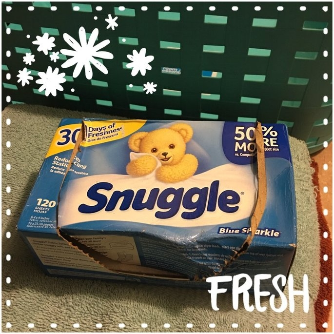 Snuggle Blue Sparkle Dryer Sheets uploaded by Laura C.