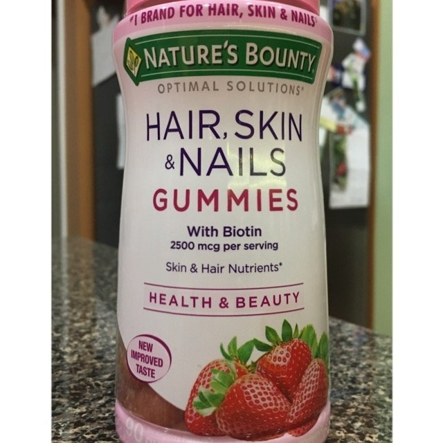 Nature's Bounty Optimal Solutions Hair, Skin & Nails Dietary Supplement Strawberry Flavored Gummies, 90 count uploaded by Jessica G.