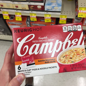 Photo of Campbell's® Fresh-Brewed Soup Homestyle Chicken Broth & Noodle Soup Mix Coffee Podss uploaded by Nicole K.