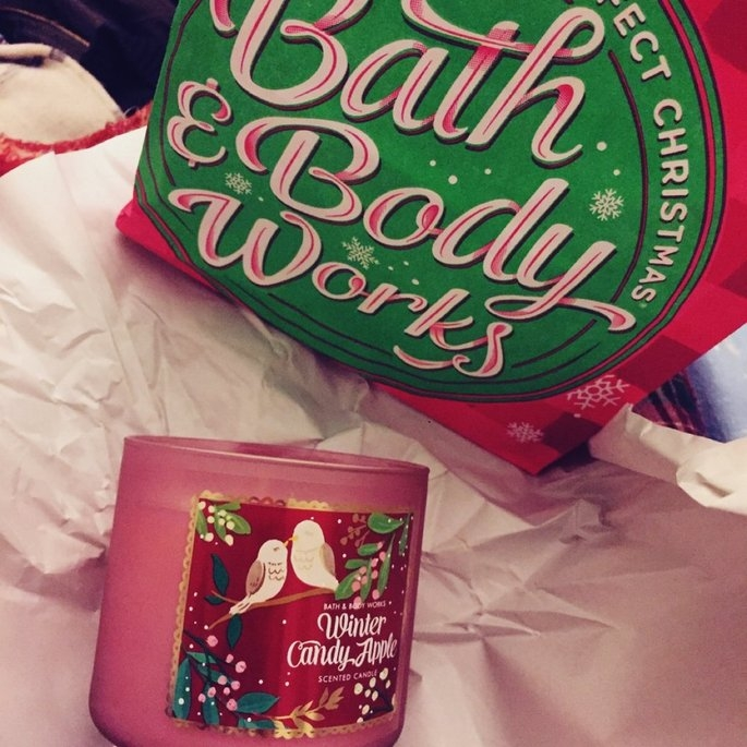 Bath & Body Works 1 X Bath and Body Works Winter Candy Apple 3 Wick Scented Candle 14.5 Oz. 2014 Edition uploaded by Tenten L.