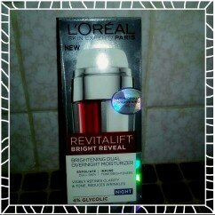 L'Oréal Paris Revitalift Bright Reveal Brightening Dual Overnight Moisturizer uploaded by Kristal F.