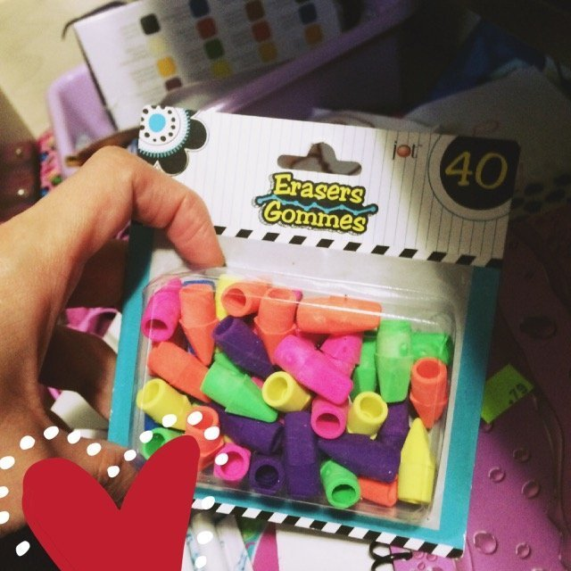 40 Erasers in Assorted Colors Fits on Your Pencil By Greenbrier International, uploaded by Tammy W.