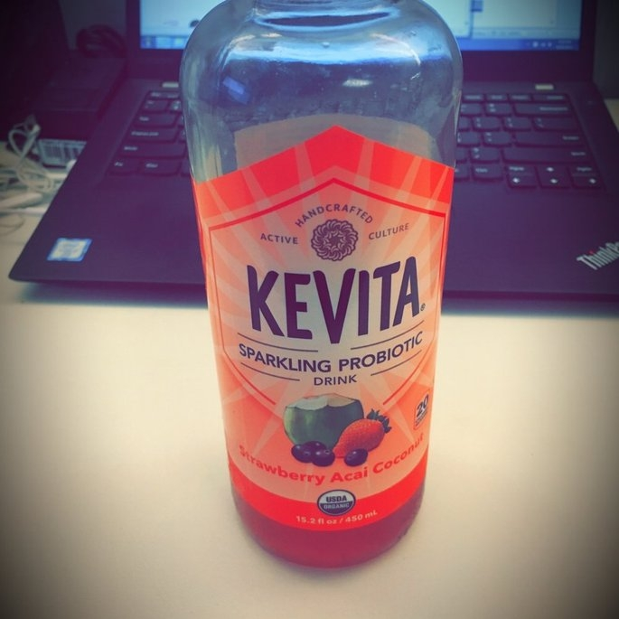 KeVita Delicious Vitality Sparkling Probiotic Drink Strawberry Acai Coconut uploaded by Courtney R.