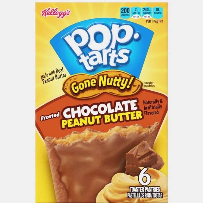 Kellogg's Pop-Tarts Gone Nutty Frosted Chocolate Peanut Butter uploaded by Amanda R.