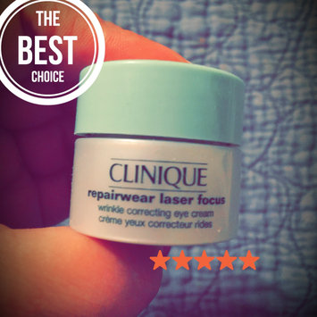 Photo of Clinique Repairwear Laser Focus™ Wrinkle Correcting Eye Cream uploaded by amie d.
