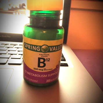 Photo of Spring Valley Vitamin B12 Sublingual 500 mcg uploaded by Jill L.