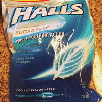 Halls Sugar Free Mountain Menthol Flavor Menthol Cough Suppressant/Oral Anesthetic Drops 70 ct Bag uploaded by Maine F.