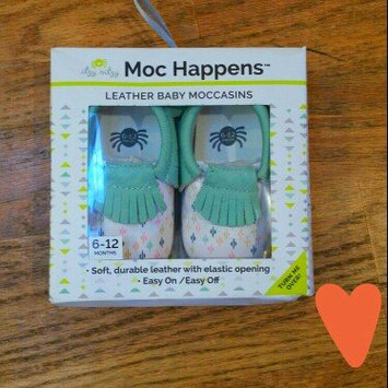 Photo of Moc Happens Leather Baby Moccasins- Diamond Rain - 6-12 Months uploaded by Brenna H.