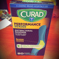 Curad Performance Series Antibacterial Bandages, Assorted Colors, 1 x 3.25 inch (2.5 x 8.2cm), 20 ea uploaded by Luis M.
