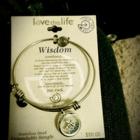 love this life Crystal & Sodalite Stainless Steel Wisdom Owl Charm Bangle Bracelet uploaded by Jenna B.