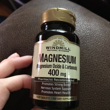 Photo of Magnesium Oxide 200 mg, 100 Tablets, Windmill Health Products uploaded by Ashley M.