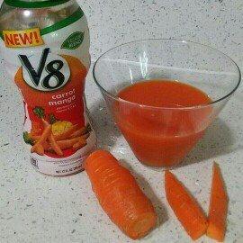 V8 Veggie Blends Carrot Mango uploaded by Yajaira H.