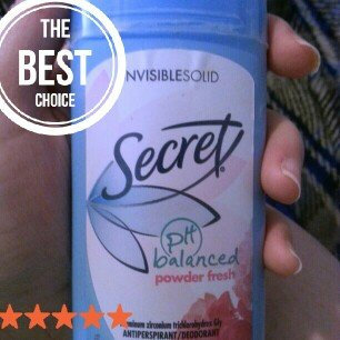Photo of Secret Invisible Solid 2-pk. Powder Fresh Deodorant 5.2-oz. uploaded by Amber W.