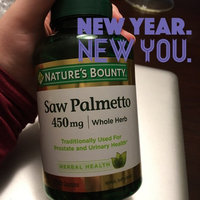 Nature's Bounty Herbal Capsules Saw Palmetto 450 mg - 100 CT uploaded by Alexis L.