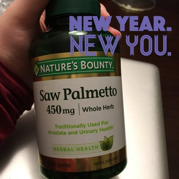 Photo of Nature's Bounty Herbal Capsules Saw Palmetto 450 mg - 100 CT uploaded by Alexis L.