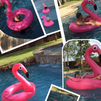 Photo of Big Mouth Toys BigMouth Inc Pink Flamingo Pool float, inflates to over 4ft. wide uploaded by JMacs R.