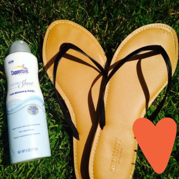 Photo of Coppertone Clearly Sheer For Beach & Pool Continuous Spray Sunscreen, SPF 30, 5 oz uploaded by Monica W.