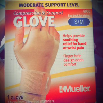 Photo of Mueller Sport Care Moderate Support Level Small/Medium Compression & Support Glove uploaded by Latrisa W.