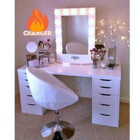 Vanity Girl Hollywood Broadway Lighted Make Up Mirror uploaded by SynergyByDesign #.