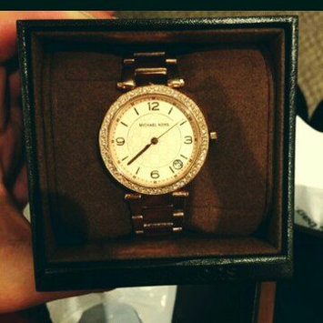 Michael Kors Rose Golden Stainless Steel and Tortoise Acetate Watch uploaded by lisa l.