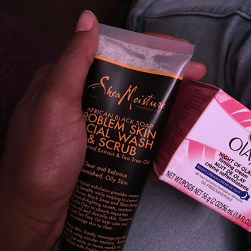 SheaMoisture African Black Soap Problem Skin Facial Wash & Scrub uploaded by Aaliyah S.