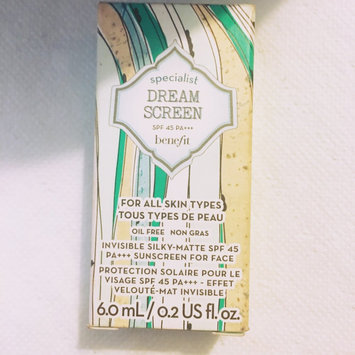 Benefit Cosmetics dream screen SPF 45 invisible silkymatte sunscreen uploaded by Danii J.