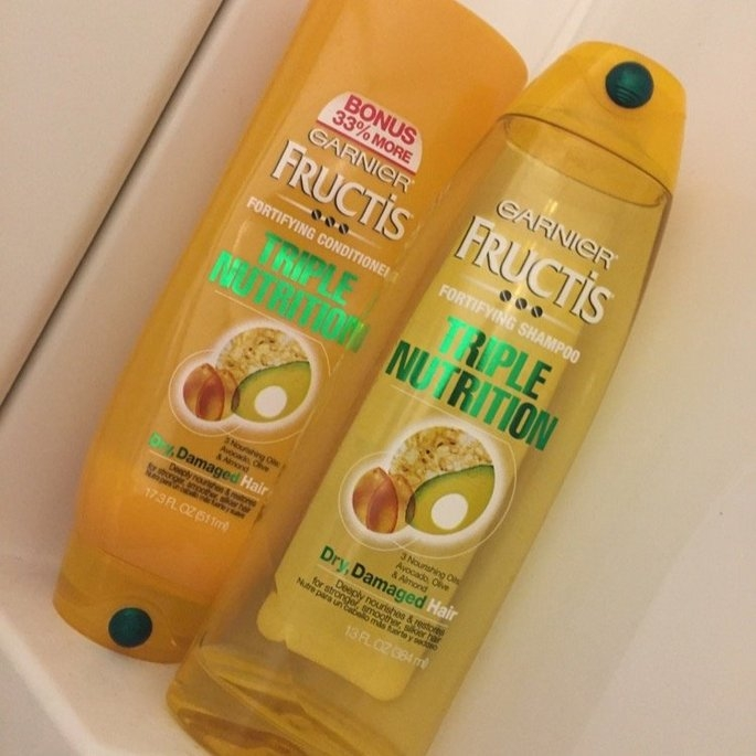 Garnier Fructis Haircare Triple Nutrition Extra Nourishing Cream Fortifying Shampoo uploaded by Kendra M.
