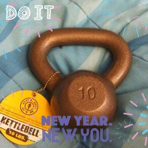 Photo of Gold's Gym 10 lb Cast Iron Kettlebell uploaded by April A.